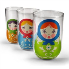 Набор из трех стаканов Матрешка