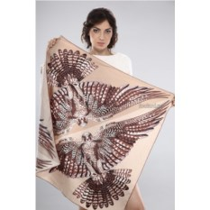 Женский шелковый платок Valentino (цвет: бежевый)