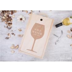 Именная коробка для 2 бутылок вина «Save water, drink wine»