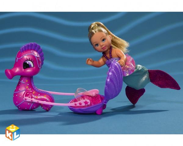 Кукла Еви-русалка и морской конек