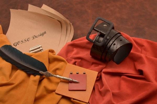 Черный кожаный ремень ВВ1 (тип 3)