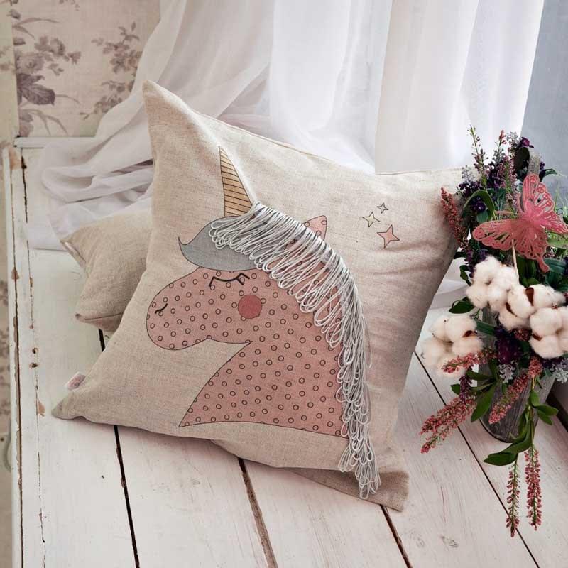 Декоративная подушка Единорог