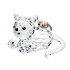 Хрустальная статуэтка Кошка с мышкой