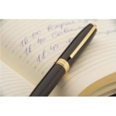 Шариковая ручка Legend с футляром (цвет - черный с золотистым)