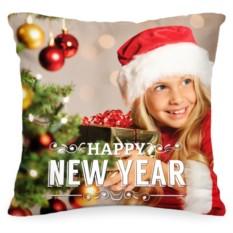 Подушка с вашим фото Happy New Year
