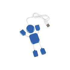 USB хаб на 4 порта в виде синего человечка