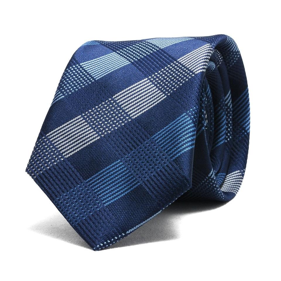 Узкий галстук в клетку
