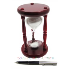 Часы песочные 15 минут белый песок