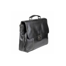 Мужской черный кожаный портфель Bodenschatz