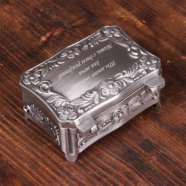 Шкатулка для украшений с гравировкой Версаль