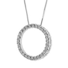 Кулон в виде круга из камней муассанитов 2,25 Amy
