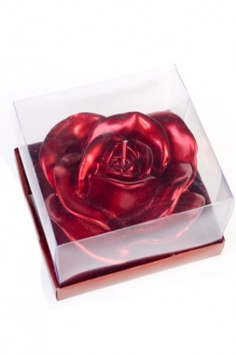 Свеча плавающая Роза бордовая