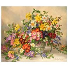 Картина-раскраска по номерам на холсте Нарциссы