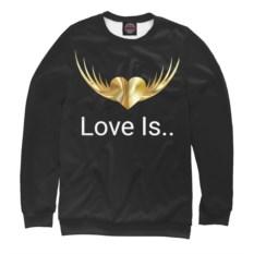 Свитшот Любовь это (цвет: черный)