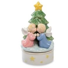 Музыкальная статуэтка Рождественский поцелуй Pavone
