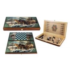 Настольная игра в нарды и шашки Стая