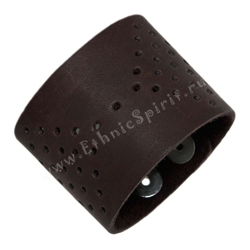 Кожаный браслет с имитацией кожи ската