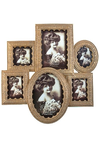 Рамка для 6-ти фото Королевский шик
