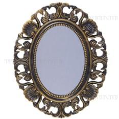 Овальное зеркало (цвет — бронзовый)
