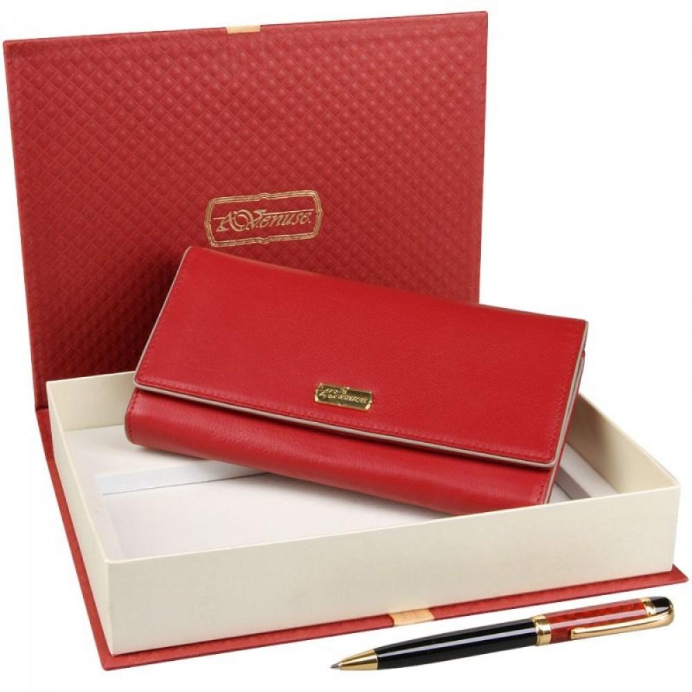Подарочный набор для женщин из кошелька и ручки