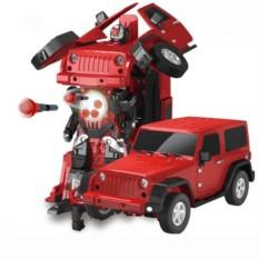 Радиоуправляемый робот трансформер Jeep Rubicon Red