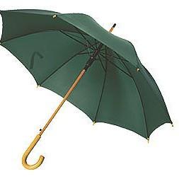 Зонт UNIT STANDART с деревянной ручкой, зеленый