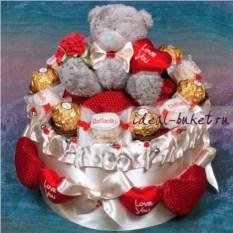 Торт-шкатулка Love is