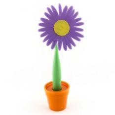 Ручка-цветок на подставке Фиолетовая астра