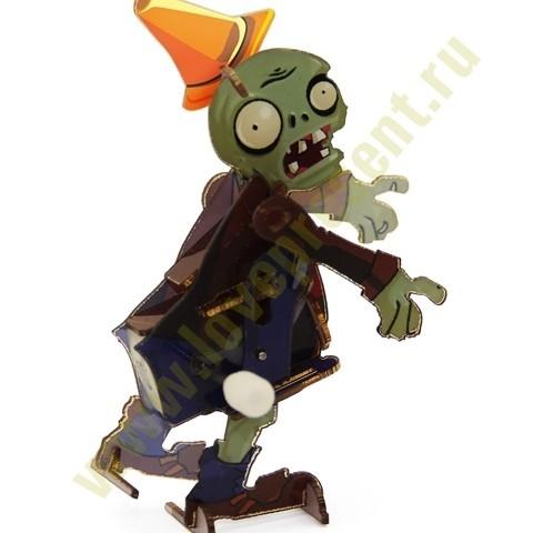 Механическая головоломка Зомби в каске