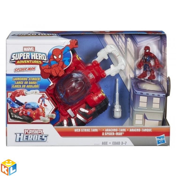 Игровой набор Фигурка и танк Человека-паука