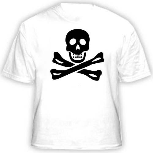 Прикольная футболка «Череп и кости»