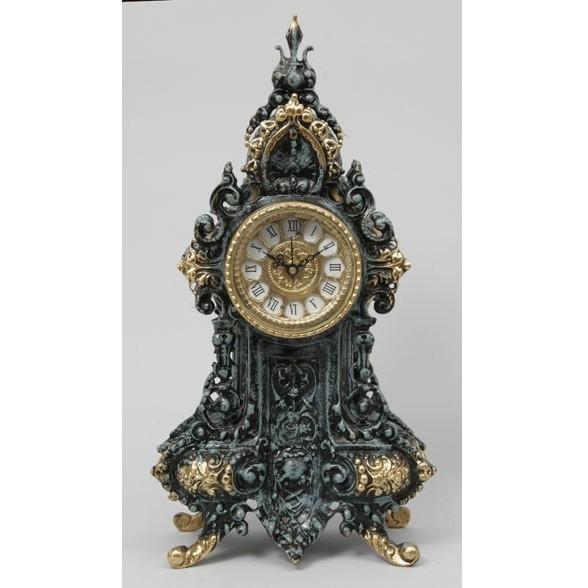 Часы бронзовые каминные