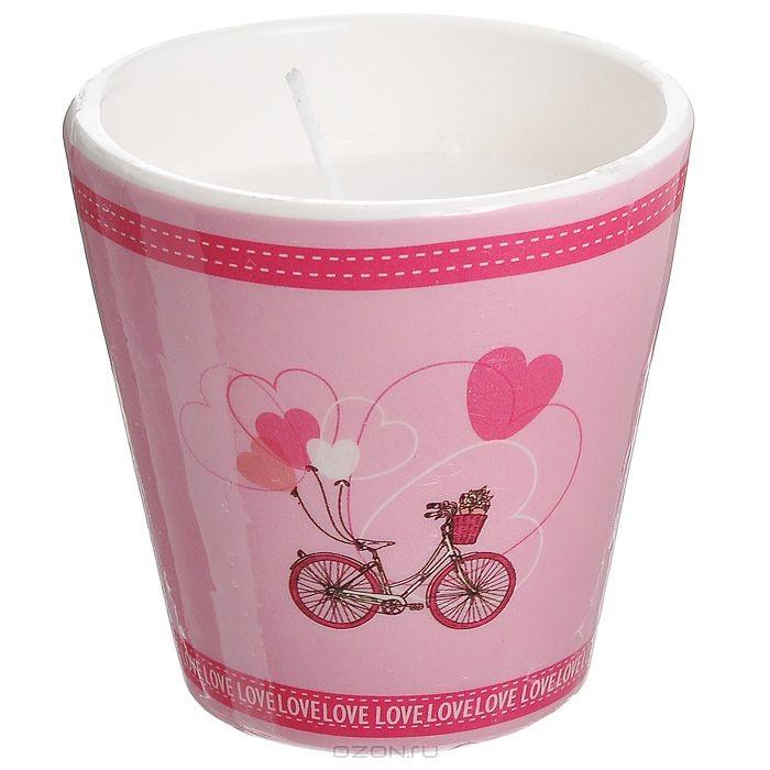 Декоративный подсвечник Велосипед, со свечой