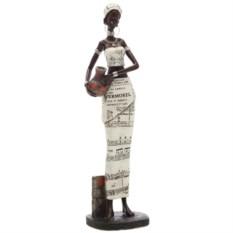 Декоративная фигурка Африканка с кувшином высотой 34 см