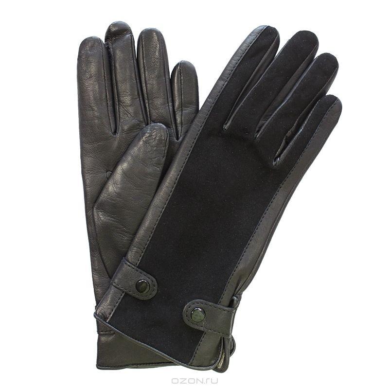 Женские перчатки Edmins, с замшевой вставкой