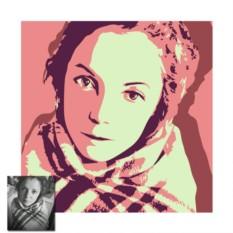 Двухцветный поп-арт портрет