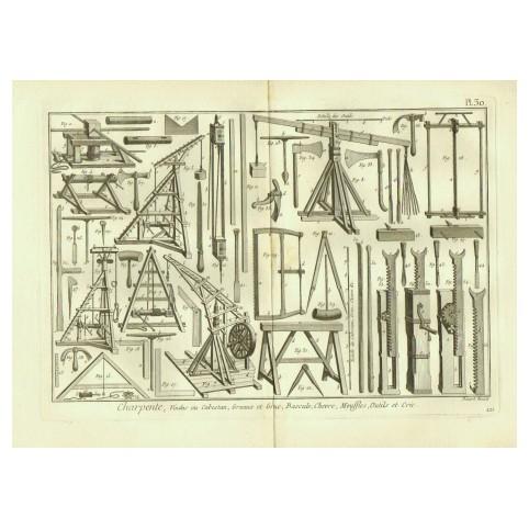 Гравюра «Плотницкие инструменты»