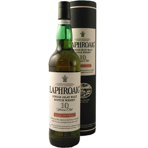 Laphroaig. Single Islay Malt Whisky. 10 Years Old