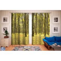 Фотошторы Зеленый лес