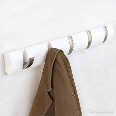 Белая настенная вешалка на 5 крючков Flip