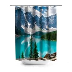 3D-штора для ванной Озеро