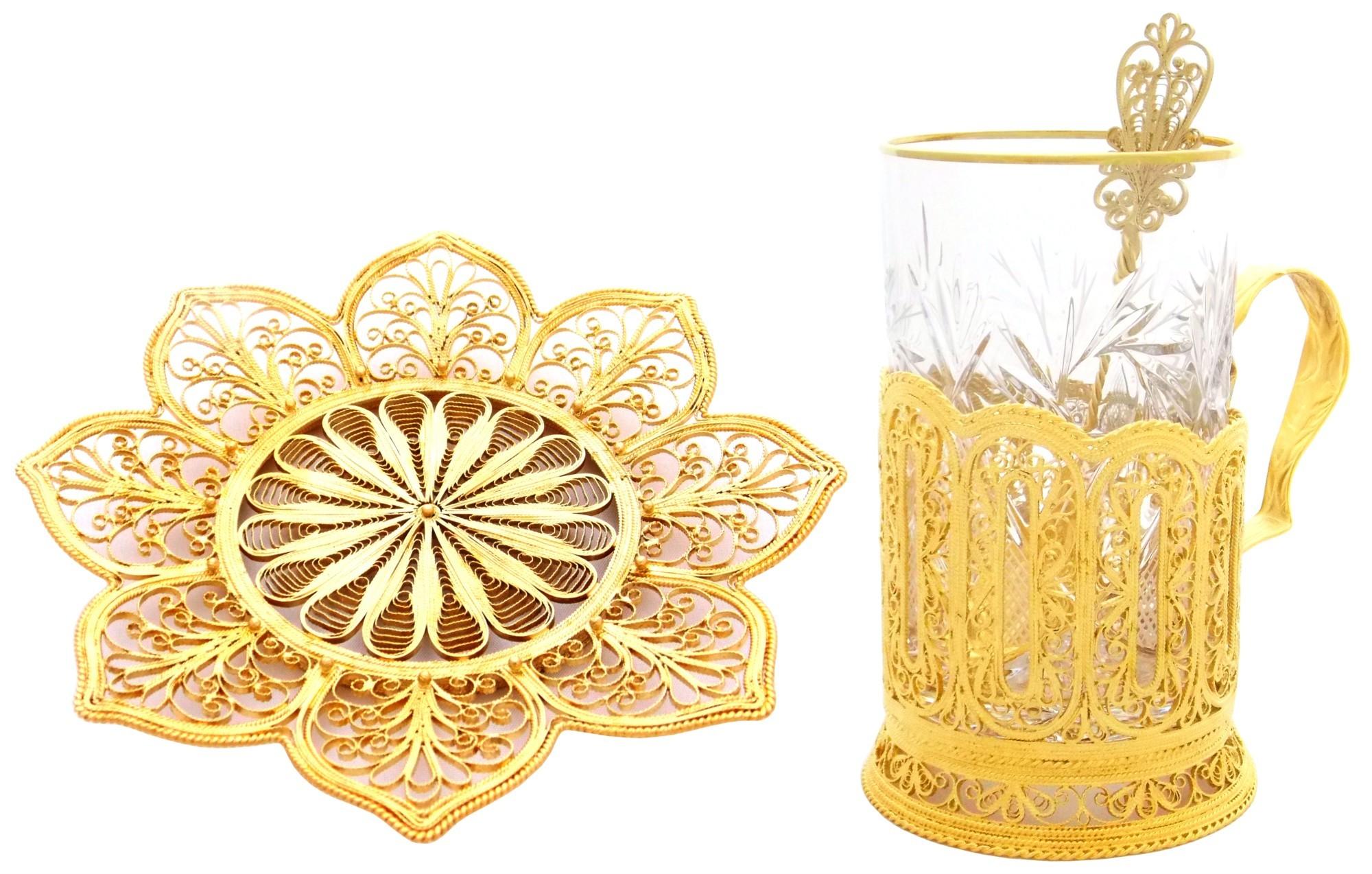 Чайный набор с золочением Кремлевские стены
