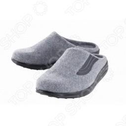 Тапочки домашние Walkmaxx. Цвет: серый