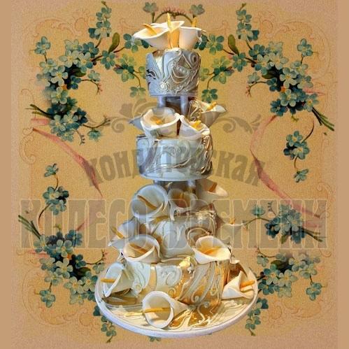 Торт «Золотые каллы»