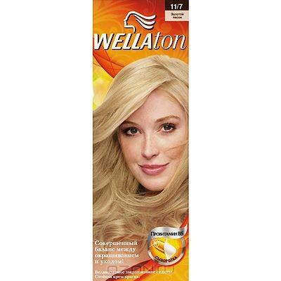 Крем-краска для волос Wellaton 11/7. Золотой песок