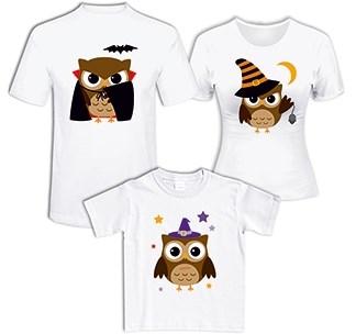 Семейные футболки Совы