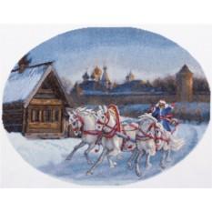 Набор для вышивания Три белых коня