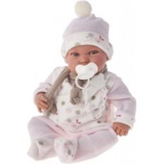 Кукла-младенец Камилла в розовом Munecas Antonio Juan