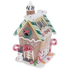 Украшение новогоднее светящееся Пряничный домик снеговика