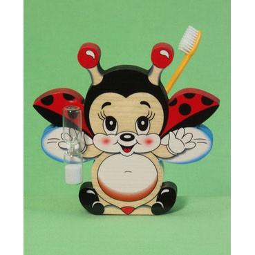 Подставка для зубной щётки «Летающая божья коровка